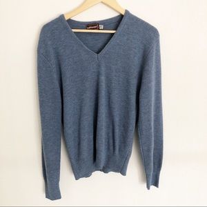 Jonathan Logan Blue V-Neck Sweater